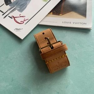 Louis Vuitton Luggage Belt Bracelet Brown Leather